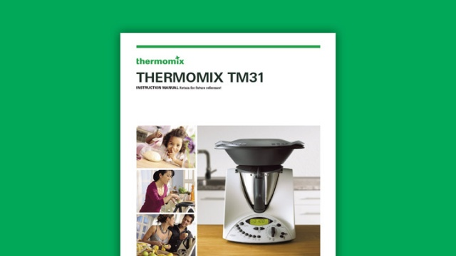 說明書THERMOMIX TM31